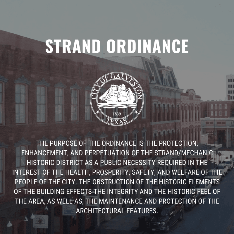 Strand ordinance