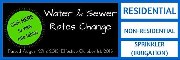 Water and Sewer Rate Change