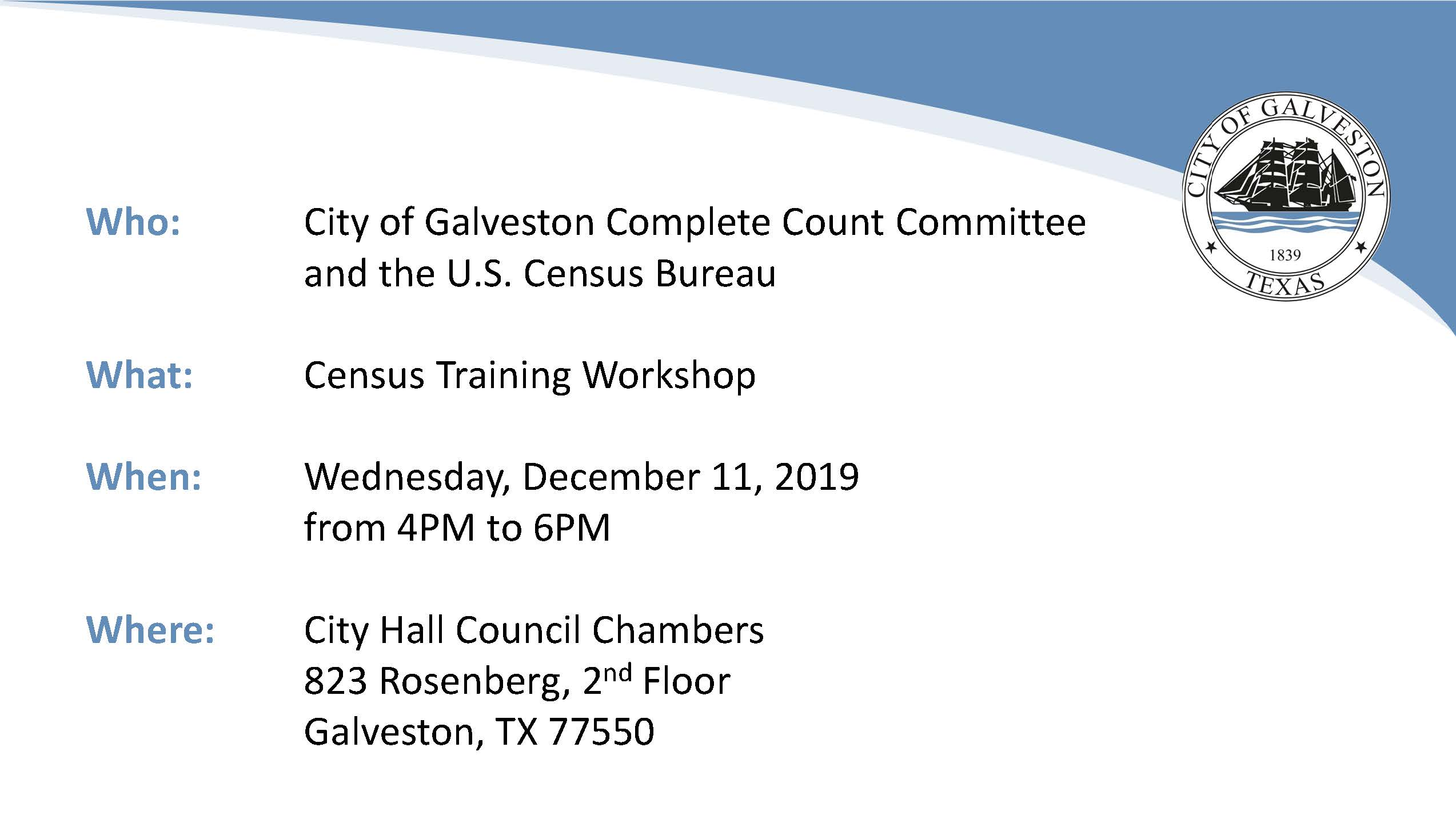 Census Training Event Info Opens in new window