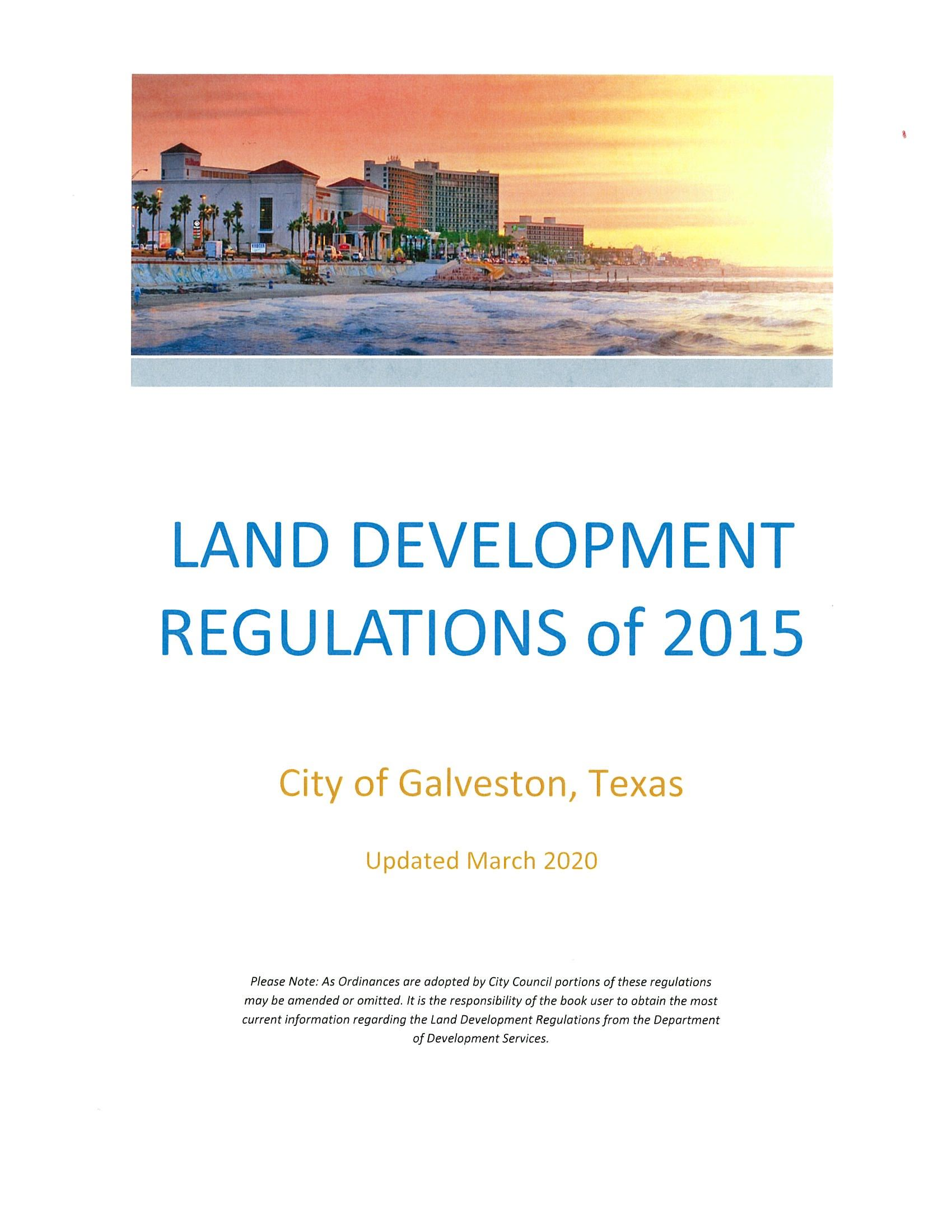 Land Development Regulations Cover - Updated December 2018 Opens in new window